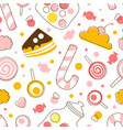 sweet desserts seamless pattern tasty sweets can vector image vector image