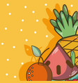sweet fruits cartoons vector image
