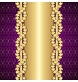 Vintage gold and purple background with laurel vector image vector image