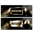 vintage luxury golden ornate invitation with palm vector image vector image