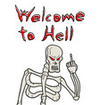 welcome to hell message vector image