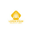 wheat grain agriculture logo inspiration isolated vector image