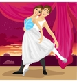 Couple of ballet dancers posing vector image