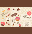 bakery flyer background flat vector image