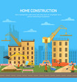 house or skyscraperbuilding or house construction vector image