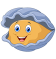 Cartoon happy oyster vector image