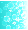 Abstract background with fish and bubbles vector image vector image