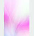 abstract curved on pink white background vector image vector image