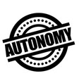 autonomy sticker stamp