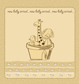 baby shower card with retro toys vector image vector image