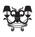 Baroque Elegant Wall lamp with ornaments vector image