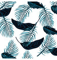 beautiful tropical flowers cartoon vector image vector image