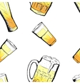 beer glasses and mugs in hand drawn style vector image vector image