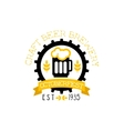 Beer Logo Design Template With Pint vector image vector image