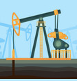 big metal construction for oil extraction deep vector image vector image