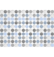 Blue and grey circles pattern design vector image vector image