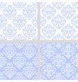 Blue seamless ethnic pattern set vector image