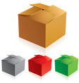 cardboard boxes vector image vector image
