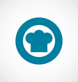 chef hat icon bold blue circle border vector image