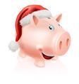 christmas savings piggy bank vector image vector image