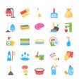 cleaning and maid icons set vector image vector image