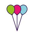color full balloons cartoon vector image vector image