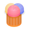 colorful bakery icon isometric style vector image vector image