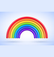 colorful rainbow arch 3d vector image vector image