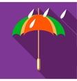 Colorful umbrella and rain drops icon vector image vector image