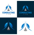 consulting firm icon and logo vector image vector image