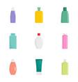 cosmetic bottle icon set flat style vector image