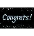 Diamond Congrats vector image