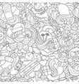 doodle abstract background vector image vector image