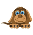 Drawing of the dog on white background vector image vector image
