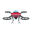 drone fly gadget technology remote propeller vector image vector image