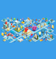 education isometric flat design vector image vector image