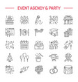 event agency wedding organization line icon vector image