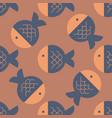 fish geometric pattern vector image