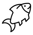 fish icon outline style vector image vector image