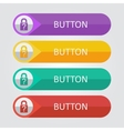 flat buttons with lock icon vector image vector image