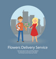 flowers delivery service banner vector image