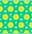 Fresh lemon orange fruits seamless pattern