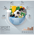 Global Sport Football Tournament Infographic With vector image