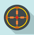 gun aim icon flat style vector image