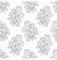 Hand drawn cilantro branch outline seamless vector image vector image