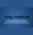 happy halloween blue background card vector image vector image