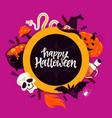 happy halloween - modern cartoon style colored vector image