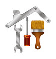 home repair tool symbol for business vector image vector image