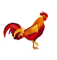 image of red rooster in paper cut style vector image