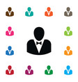 isolated politician icon leader element vector image vector image